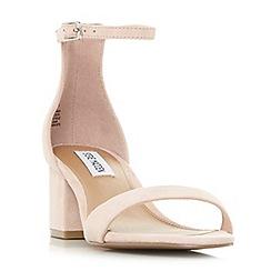 Steve Madden - Pink suede 'New irenee' mid block heel ankle strap sandals