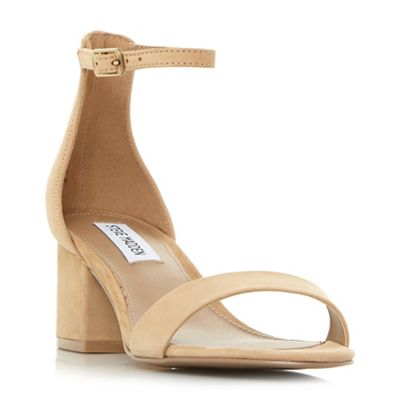 Tan leather 'New irenee' mid block heel ankle strap sandals marketable cheap price view sale online nHeATd0Up