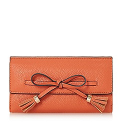 Dune - Orange 'Kessy' bow trim purse