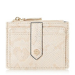 Dune - Light pink 'Kollie' zip top card holder