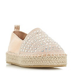 Head Over Heels by Dune - Rose 'Giina' espadrilles