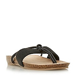 Head Over Heels by Dune - Black 'Lilibet' t-bar sandals