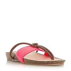 Head Over Heels by Dune - Dark peach 'Lilibet' t-bar sandals