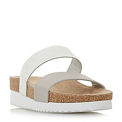 Head Over Heels by Dune - Silver 'Kimberlie' sandals