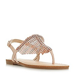Head Over Heels by Dune - Rose 'Nanci' ankle strap sandals