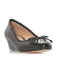 Roberto Vianni - Black 'Alita' wedge heel court shoes