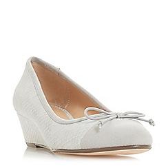 Roberto Vianni - Grey 'Alita' mid wedge heel court shoes