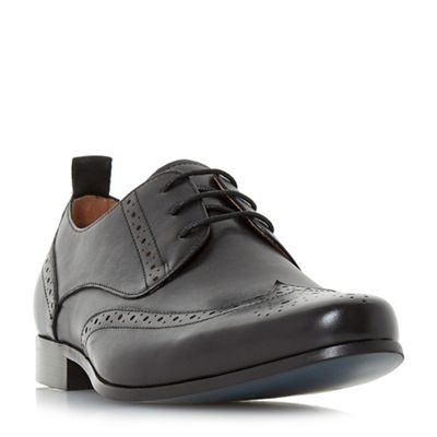 Bertie - Black 'Probation' pointed toe lace up brogues