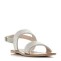 Steve Madden - Silver 'Alea' slingback sandals