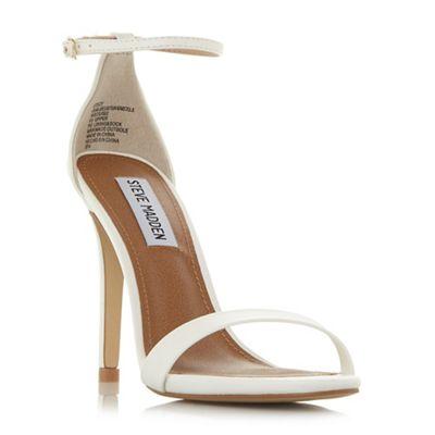 ae83899afa3 Steve Madden White  Stecy  high stiletto heel ankle strap sandals ...