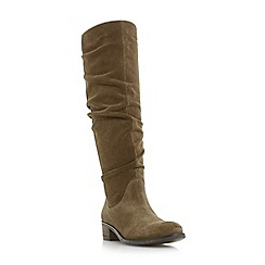 Dune - Taupe suede 'Tabatha' knee high boots