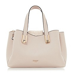 Dune - Light pink 'Decci' medium triple compartment handbag