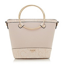 Dune - Light pink 'Dircle' circle handle shopper bag