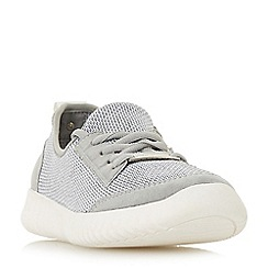 Head Over Heels by Dune - Grey 'Elisium' lace up trainers
