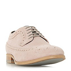 Dune - Pink 'Brooking' punch hole wingtip suede brogues