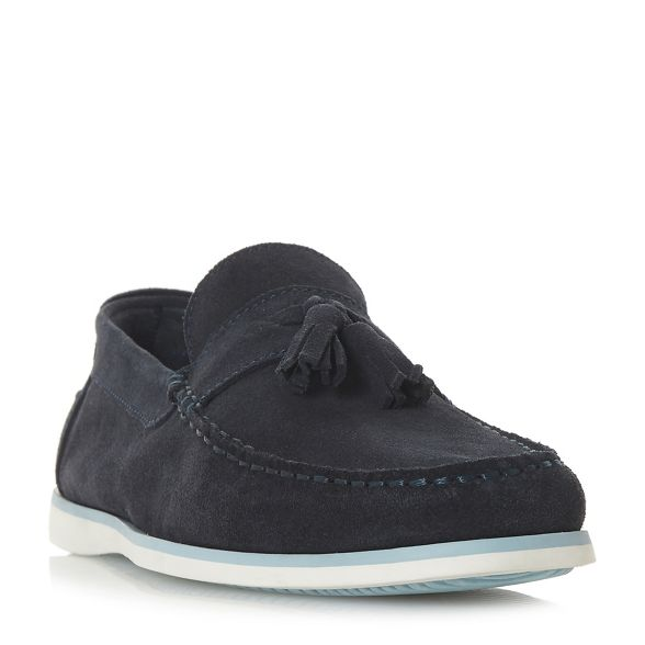 'Barthez' suede Dune tassel Navy loafers 511fOw