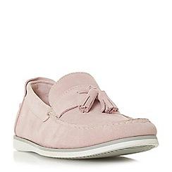 Dune - Pink 'Barthez' suede tassel loafers