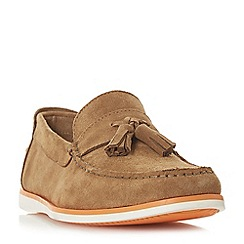 Dune - Tan 'Barthez' suede tassel loafers