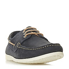 Dune - Navy 'Barge' classic boat shoes