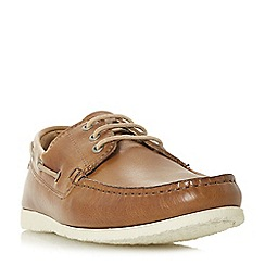 Dune - Tan 'Barge' classic boat shoes