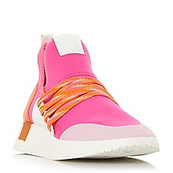 Steve Madden - Pink 'Shady' lace up trainers