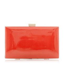 Dune - Orange 'Brocco' gold trim clutch bag