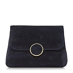 Dune - Navy 'Bonie' fold over clutch bag