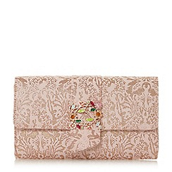Dune - Rose 'Biijou' foldover clutch bag