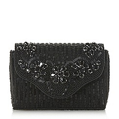 Dune - Black 'Ekk' beaded evening bag