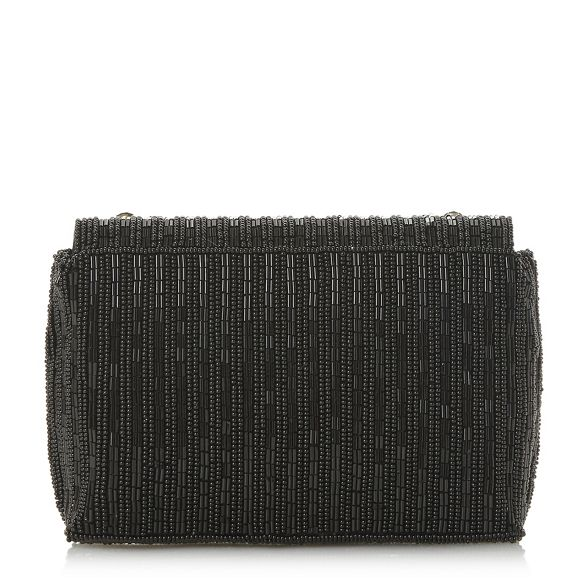 Dune evening beaded Black 'Ekk' bag rx8wqr7R