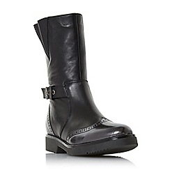 Dune - Black leather 'Rileigh' biker boots