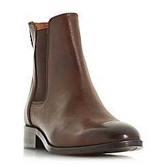 Dune - Brown leather 'Payeton' chelsea boots