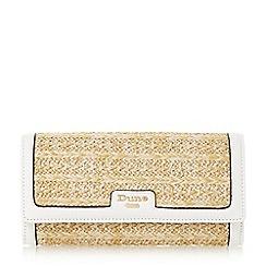 Dune - White 'Kircle' woven colour block fold over purse