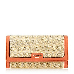Dune - Orange 'Kircle' woven colour block fold over purse