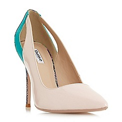 Dune - Light pink leather 'Bam bam' court shoes