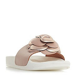 Dune - Pink leather 'Lovely' sandals