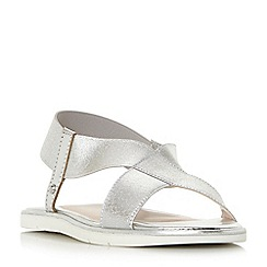 Dune - Silver 'Linke' ankle strap sandals