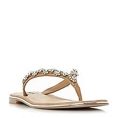 Dune - Tan leather 'Newbie' sandals