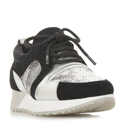 Dune - Black 'Eavie' lace up trainers