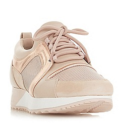 Dune - Natural 'Eavie' lace up trainers