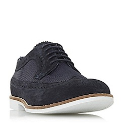 Dune - Navy 'Baldini' mesh lace up brogues