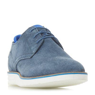 Dune - Blue 'Bergkamp' neoprene wedge shoes