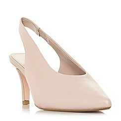 Dune - Light pink suede 'Cas' court shoes