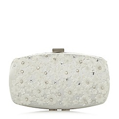Roland Cartier - Ivory 'Blooming' floral trim box clutch bag