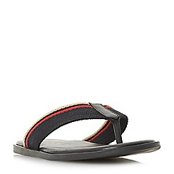 Dune - Black 'Incognito' toe post sandals