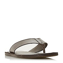 Dune - Brown 'Ivan' toe post sandals