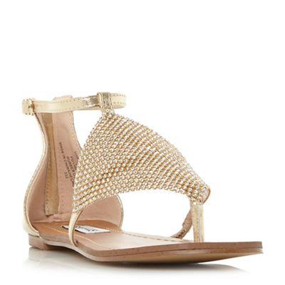 f8c8f3a6cf4 Steve Madden - Gold  Cord  sandals