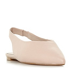Dune - Light pink leather 'Cassius' slingbacks