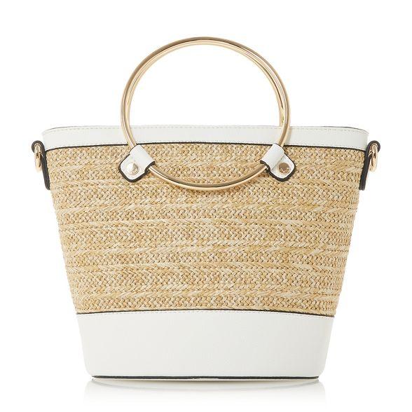 circle handle White bag shopper Dune 'Dircle' x8wAaqHp