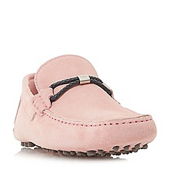 Dune - Pink 'Bally' woven hardware detail shoes